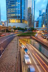 Dusk Hong Kong City