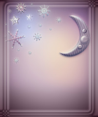 Background with stars and snow flakes