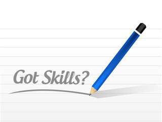got skills message illustration design
