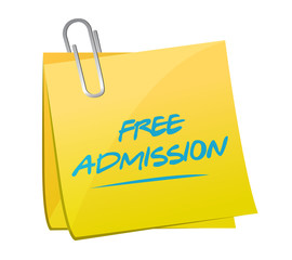 free admission memo illustration design