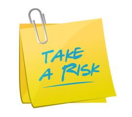 take a risk memo post illustration design