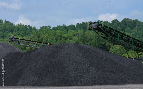 Two Large Piles of Coal - 70821387