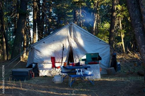 Fotobehang Jacht Elk Camp