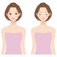 女性 美容 表情