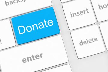 donate key word on computer keyboard,