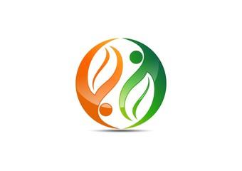 people,bio,logo,ecology,nature,balance,wellness,health,partner