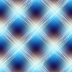 Blue checkered diagonal.