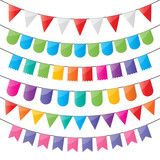 bunting and party flags