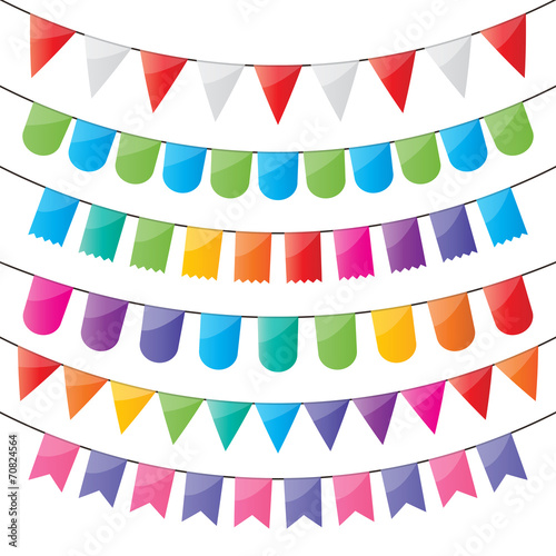 bunting and party flags - 70824564