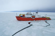 Icebreaker ship in the sea of Antarctic - 70824944