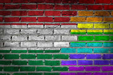 Dark brick wall - LGBT rights - Hungary