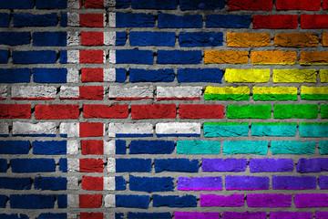 Dark brick wall - LGBT rights - Iceland