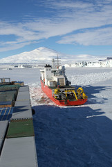 ship in the sea of Antarctic