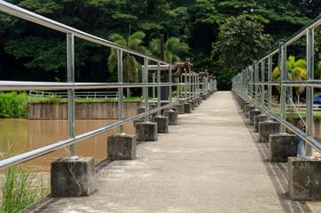 Cement bridge over the river