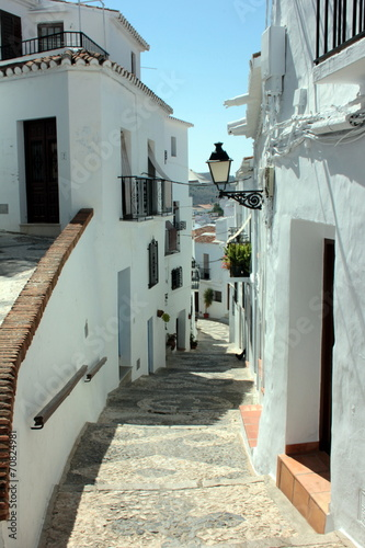 canvas print picture Gasse in Frigiliana