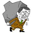 年配ビジネスマンと重荷
