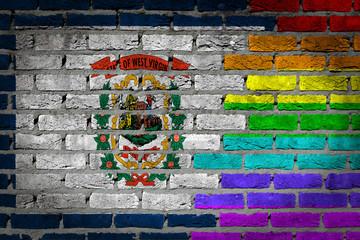 Dark brick wall - LGBT rights - West Virginia