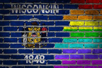 Dark brick wall - LGBT rights - Wisconsin