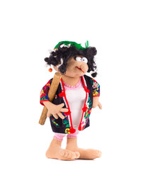 Handmade funny toy doll.