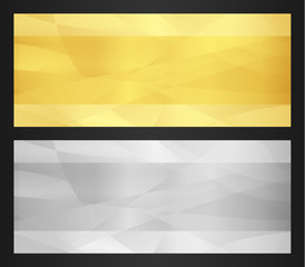Gold and silver voucher template