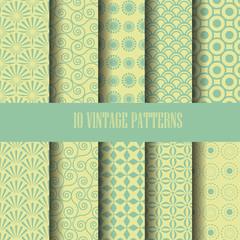 vintage pattern set,Endless texture