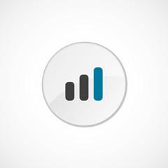 business diagram, chart symbol icon 2 colored .