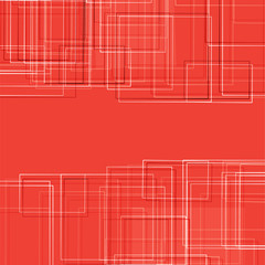Abstract square on orange Background Vector