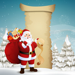 Vector Christmas Design with Santa Claus