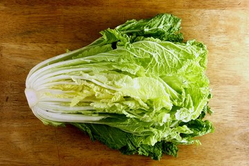 Fresh, raw, sliced cabbage