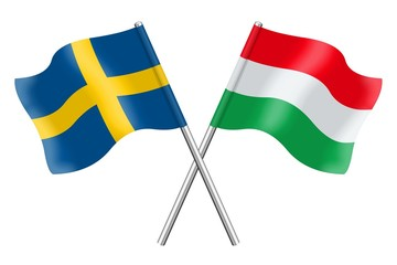 Flags: Sweden and Hungary