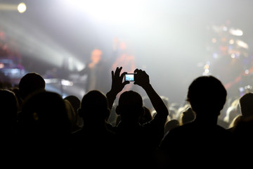 Audience at live concert