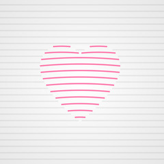 Striped heart background