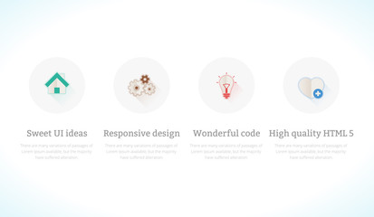 Set of flat design concept icons for web and mobile sites