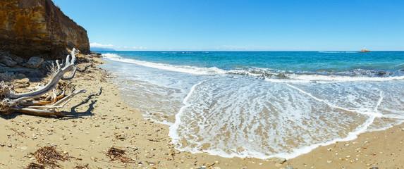 Summer beach panorama (Greece, Lefkada).