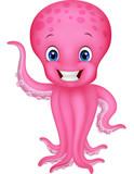 Fototapety Cute cartoon octopus waving