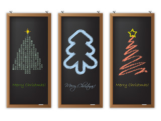 Christmas label set of three