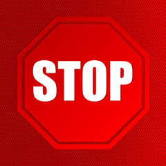 Stop sign with striped background