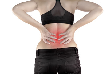 Back pain woman.
