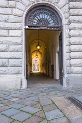 The doorway of the Royal Palace of Turin