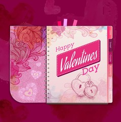 Happy valentine day background