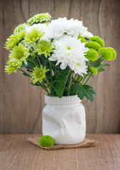 Bouquet of beautiful chrysanthemums