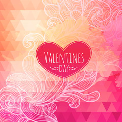 Valentine triangle background