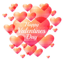 Valentine triangle heart background