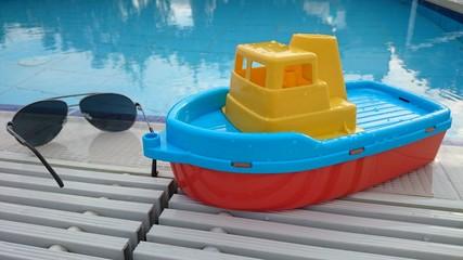 Stillleben am pool