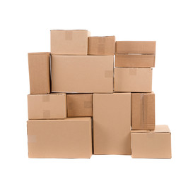 Stack of empty boxes.