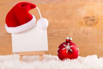 Weihnachtliche Staffelei