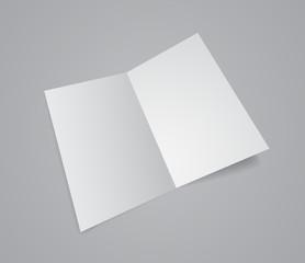 opened paper folder 3d