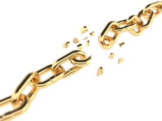 Golden broken chain