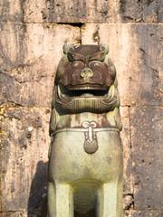 Stone traditional Shisa in Okinawa, Japan