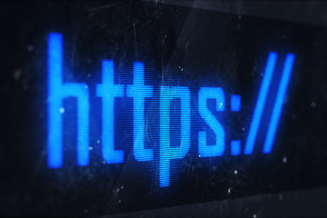 HTTPS text on virtual screens